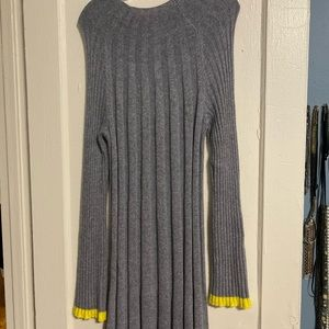 Anthropologie grey sweater dress